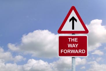 The way forward sign