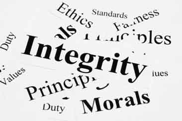 integrity and high ethical standards