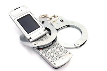 Cellphone handcuffs