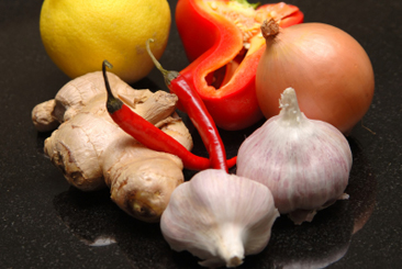 Garlic ginger pepper